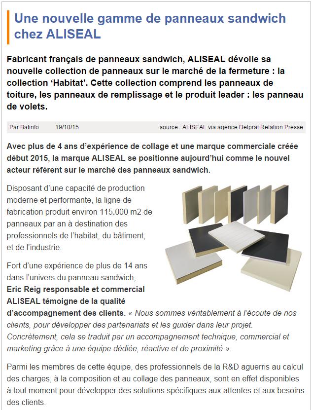 Revue de presse - oct. 2015